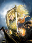 Glorfindel Battling the Balrog (detail)