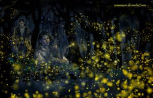 Fireflies in Nan Elmoth by annamare