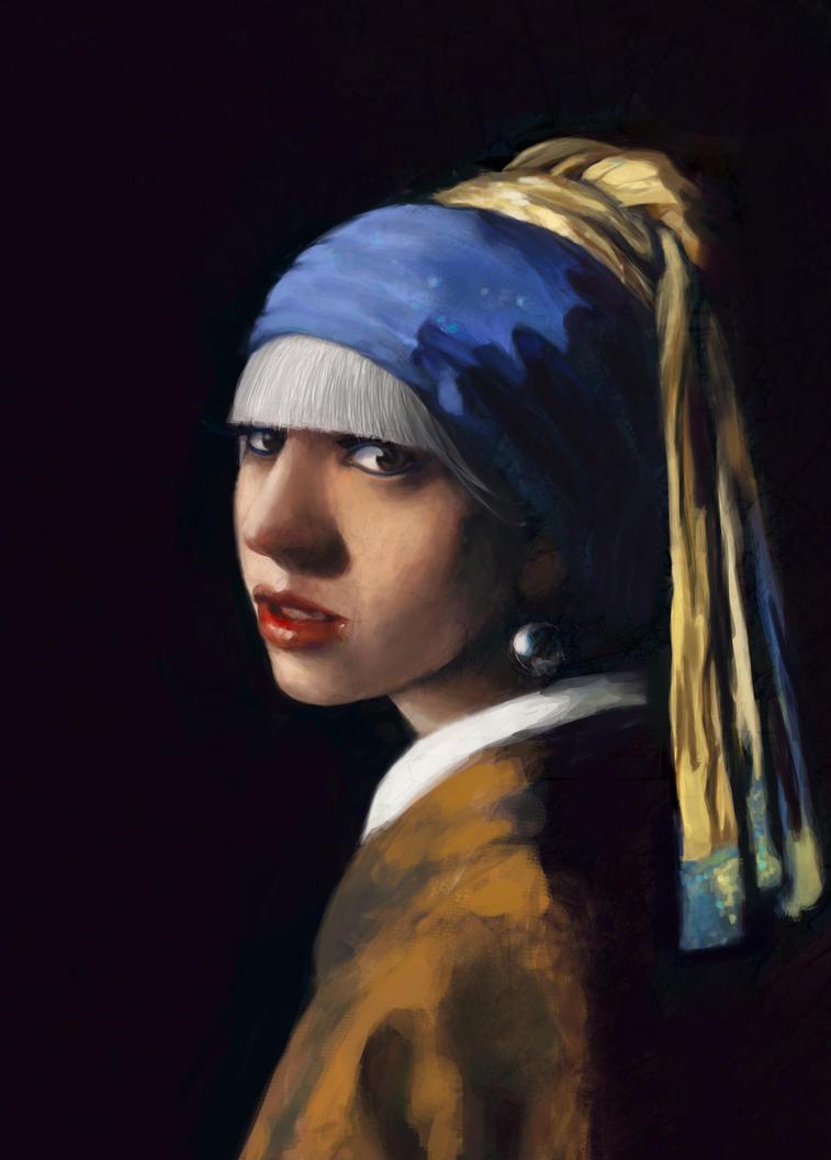 Gaga with a Pearl Earring by alexaaaaa