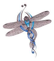 dragonfly tattoo by ashdesigns