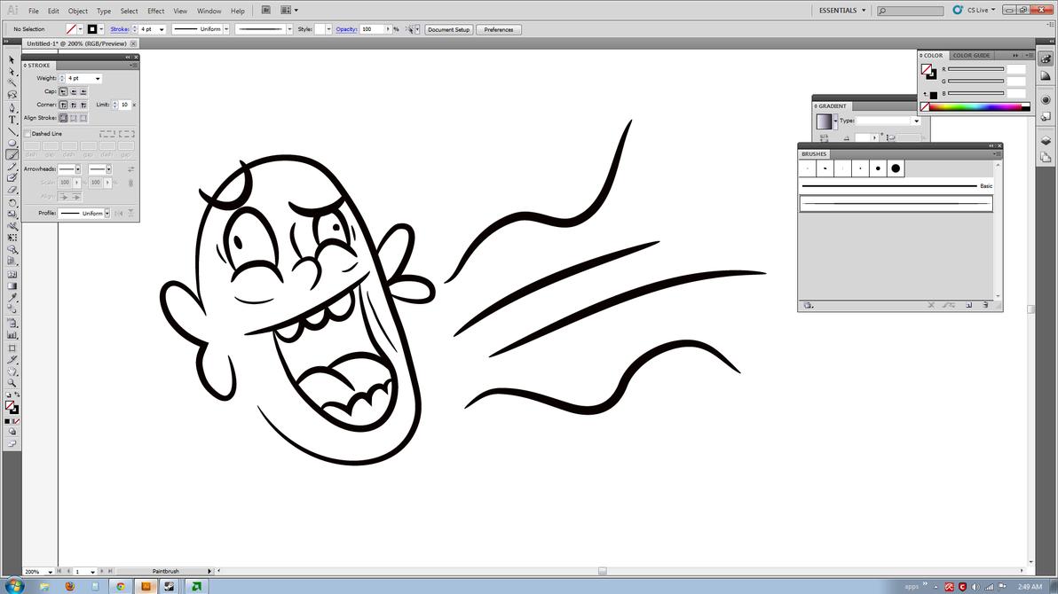 Line Art Brush By Jimro : Creating a line art brush inside illustrator by