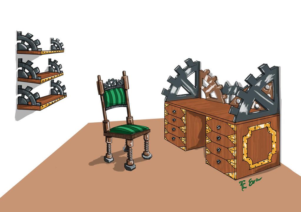 Steampunk furniture by Arwen111