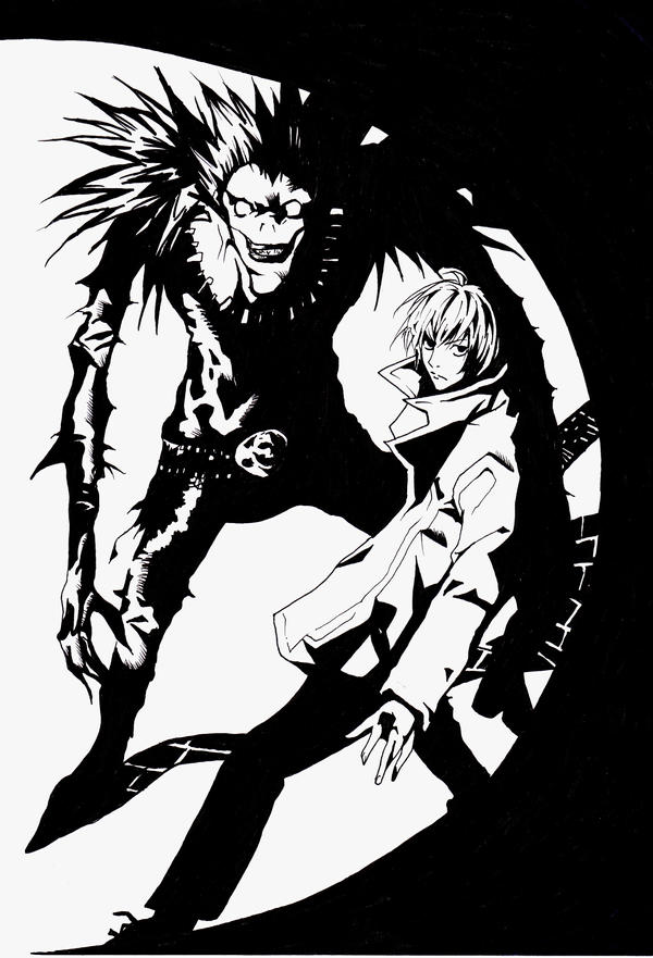 DEATH NOTE- Light and Ryuk by 821GoThIc-VAMPIRE on DeviantArt