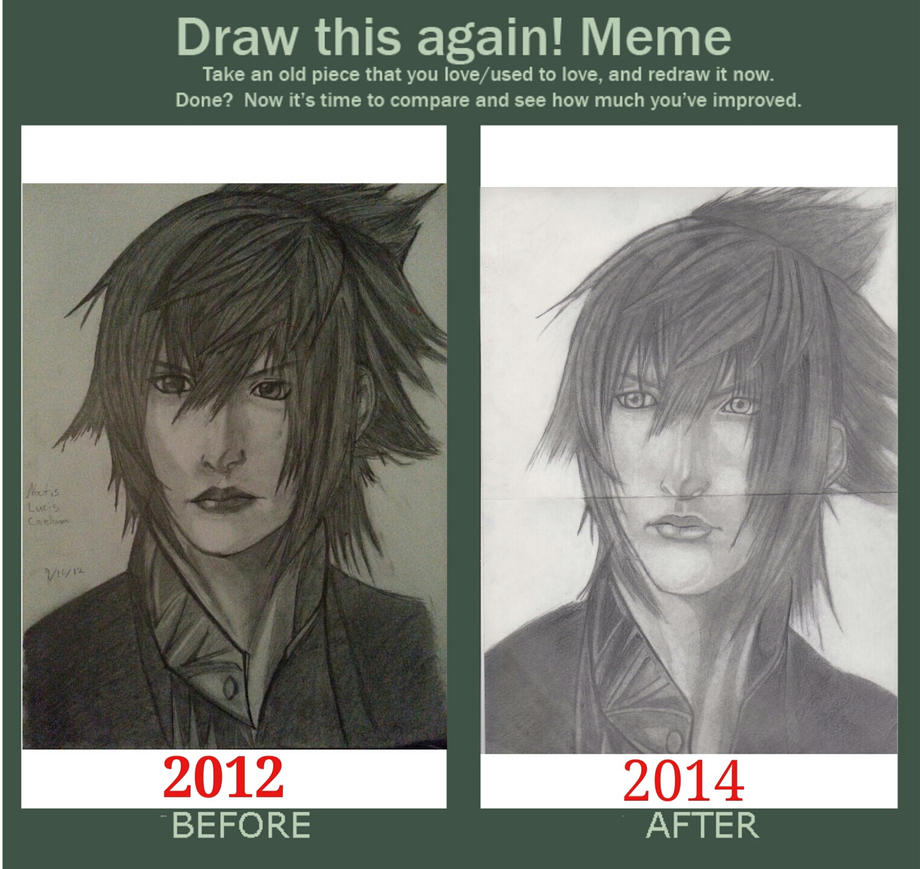 how to draw noctis step by step