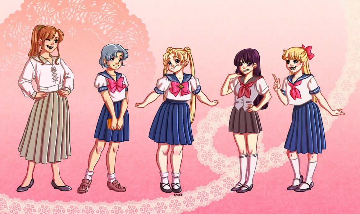Sailor Moon Body Types by KittyCatKissu