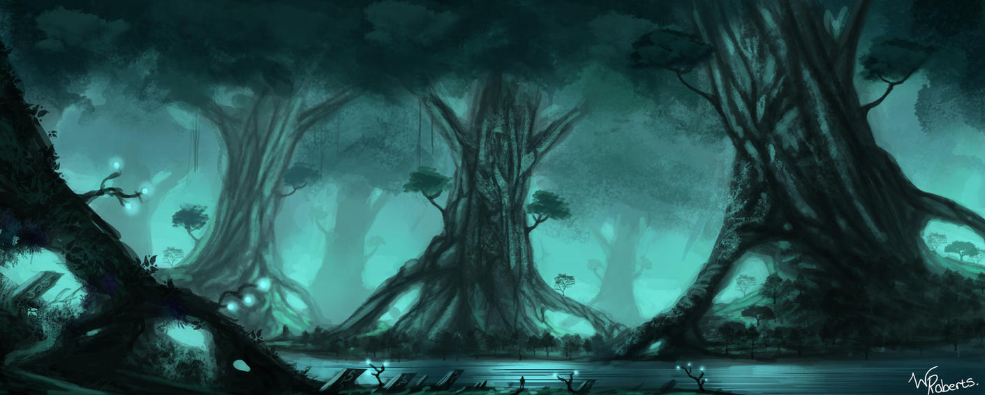 Enchanted forest art