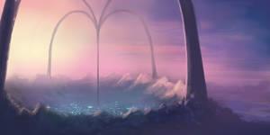 Sci Fi city by willroberts04