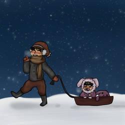 Winter fun by Rikadesu