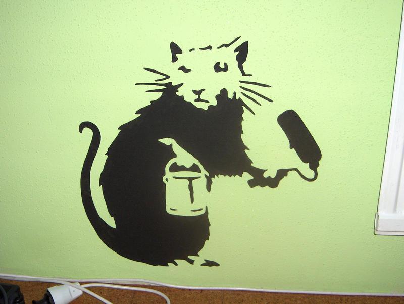 stencil painting 5 by wolf lion on deviantart. Black Bedroom Furniture Sets. Home Design Ideas