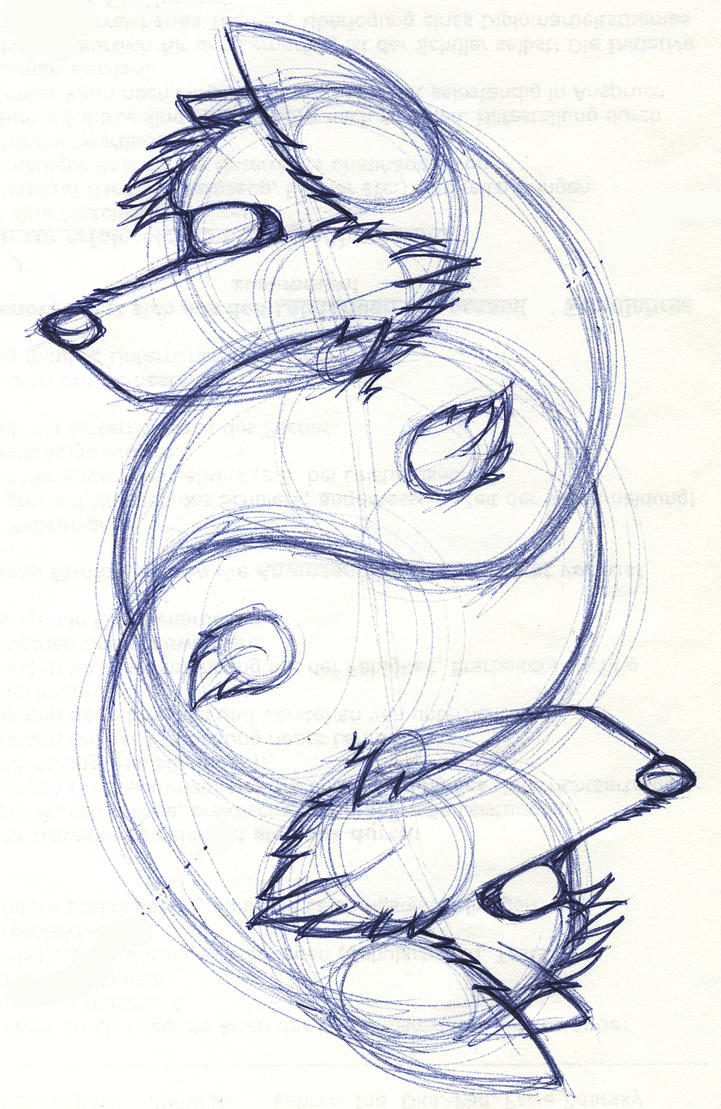 YingYang Wolf Sketch By Wolf-lion On DeviantArt