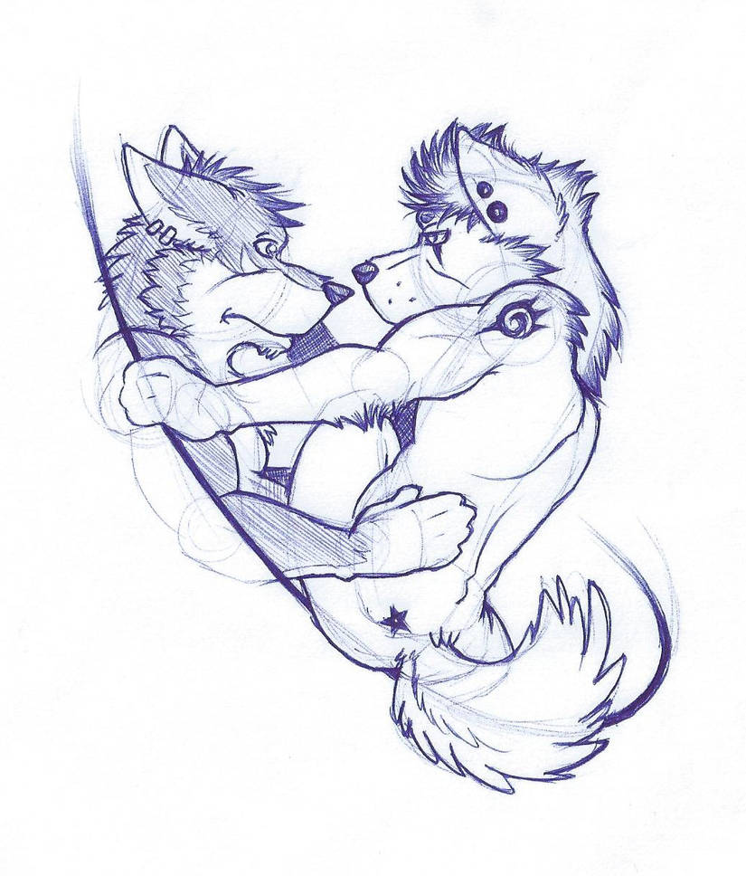 Furry love sketch by wolf lion on deviantart