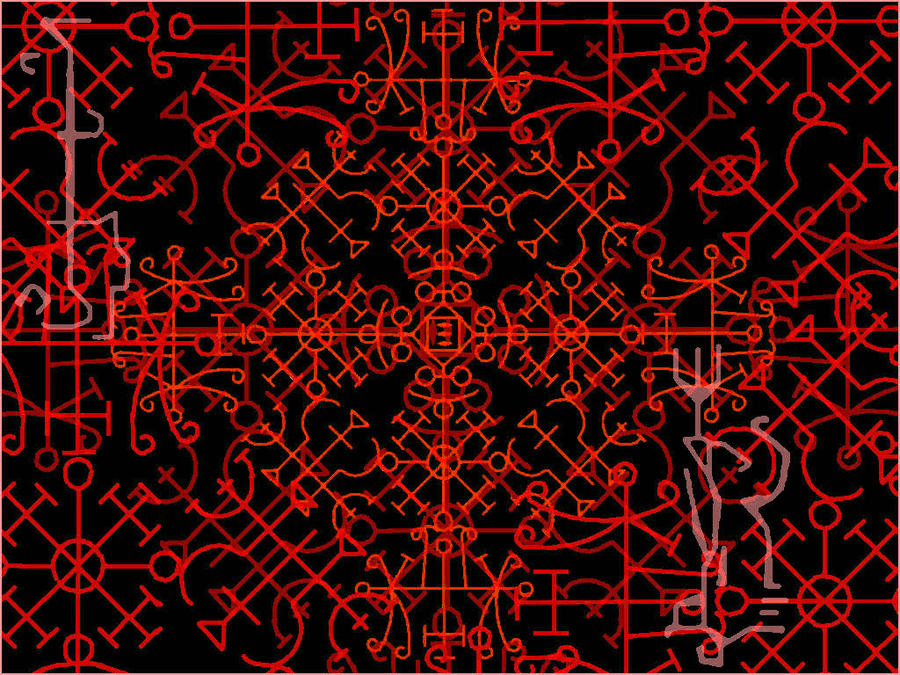 Demonic Symbols Wallpaper