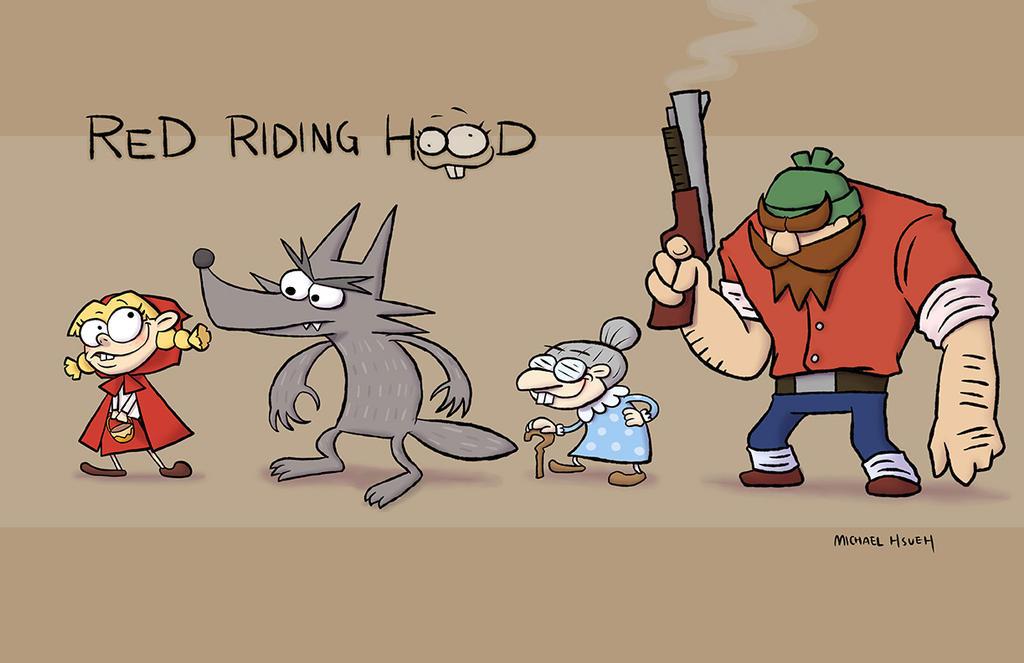 Cartoon Characters Hood Version : Character design red riding hood by phsueh on deviantart