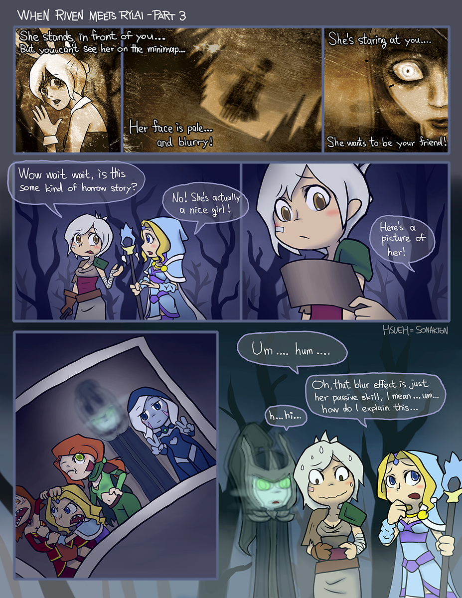 Crossover:When Riven meets Rylai - Part 3 by phsueh