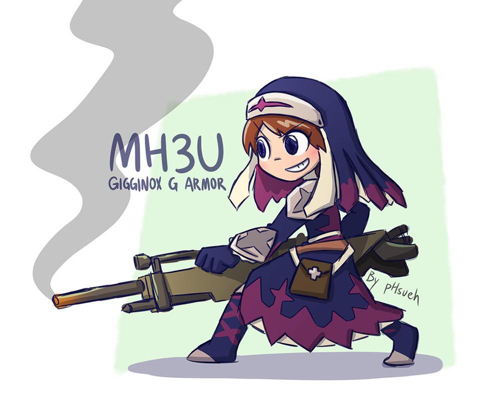 MH3U Gigginox G Armor by phsueh