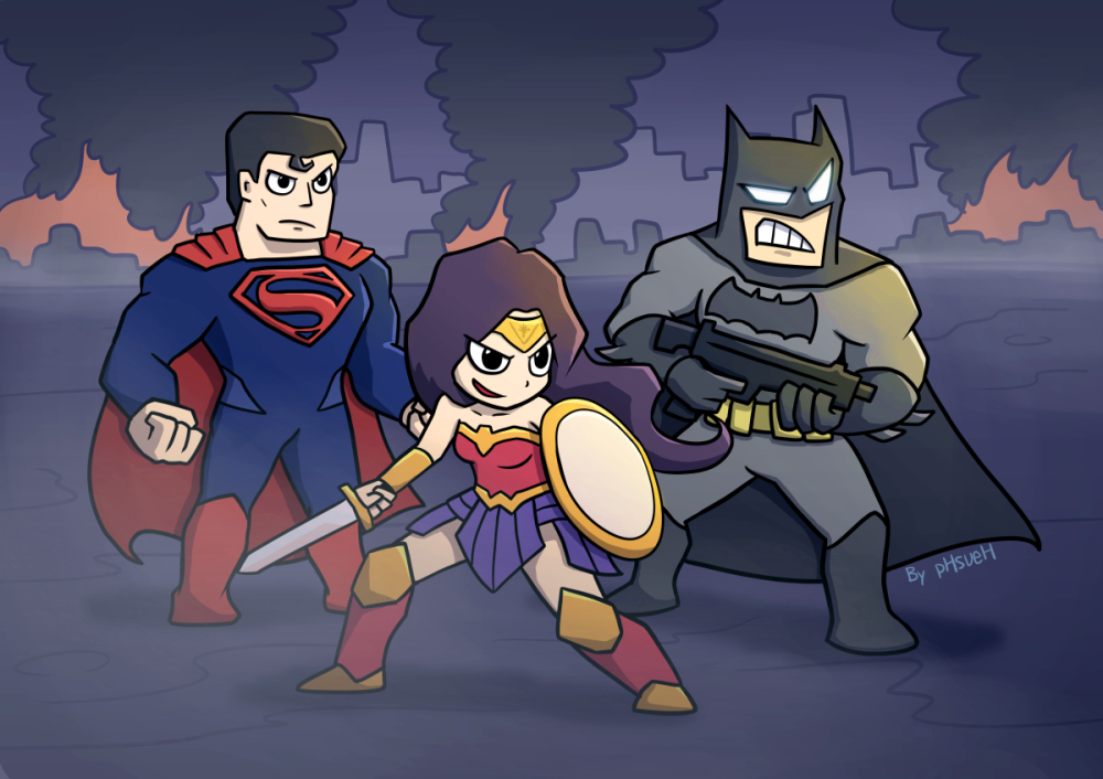 The Gallery For Batman And Superman Chibi Batman V Superman By