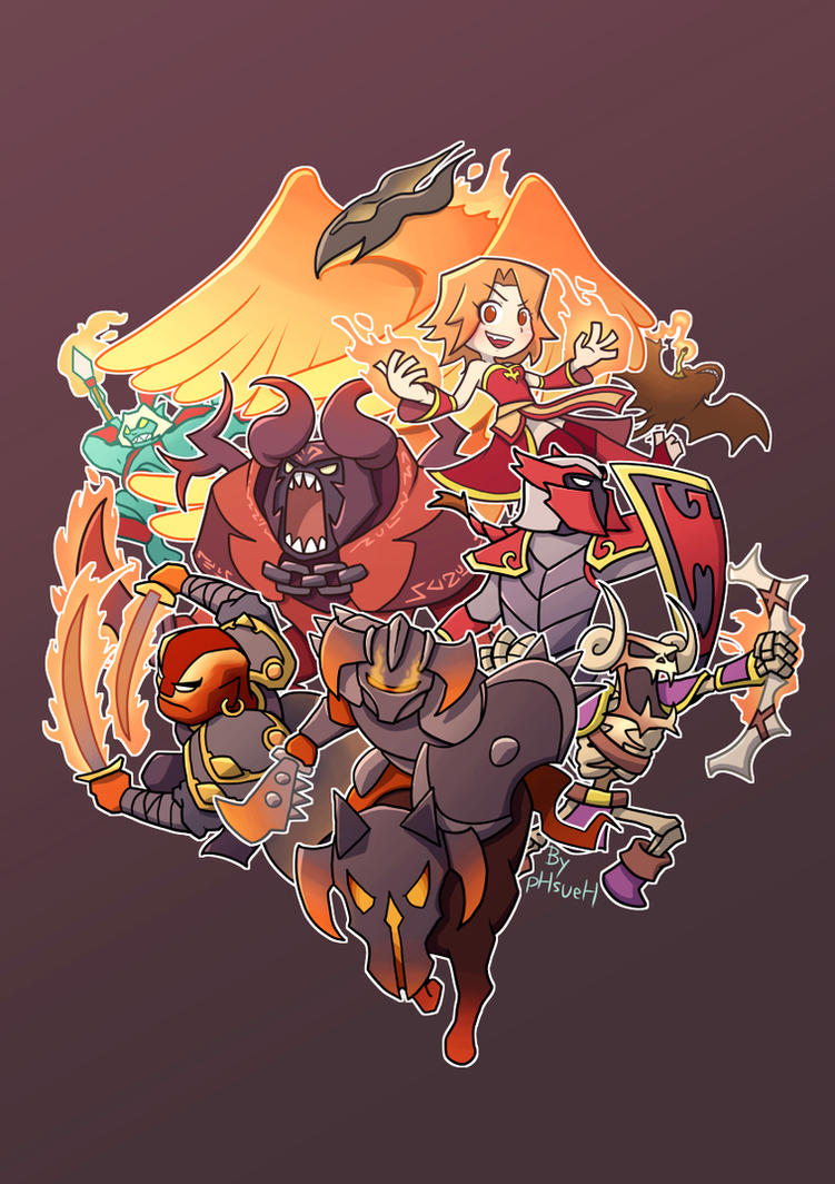 team fire dota2 by phsueh on deviantart