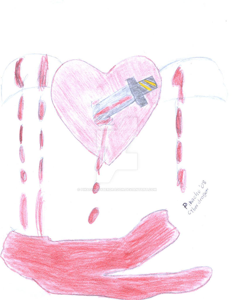 un corazon apunialado by pikachu-cyberdragon