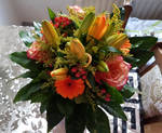 A Bunch of Orange Yellow Flowers #03