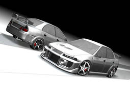 Evo 5 With rear wing