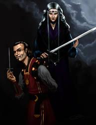 Achren and Magg by Caelkriss