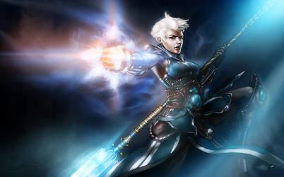 Diablo III - Lady Monk Fist by Caelkriss