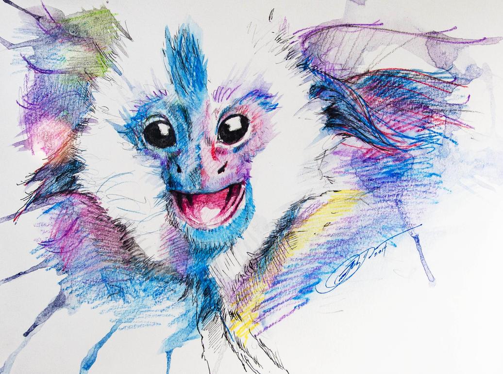 Baby Monkey by Caelkriss