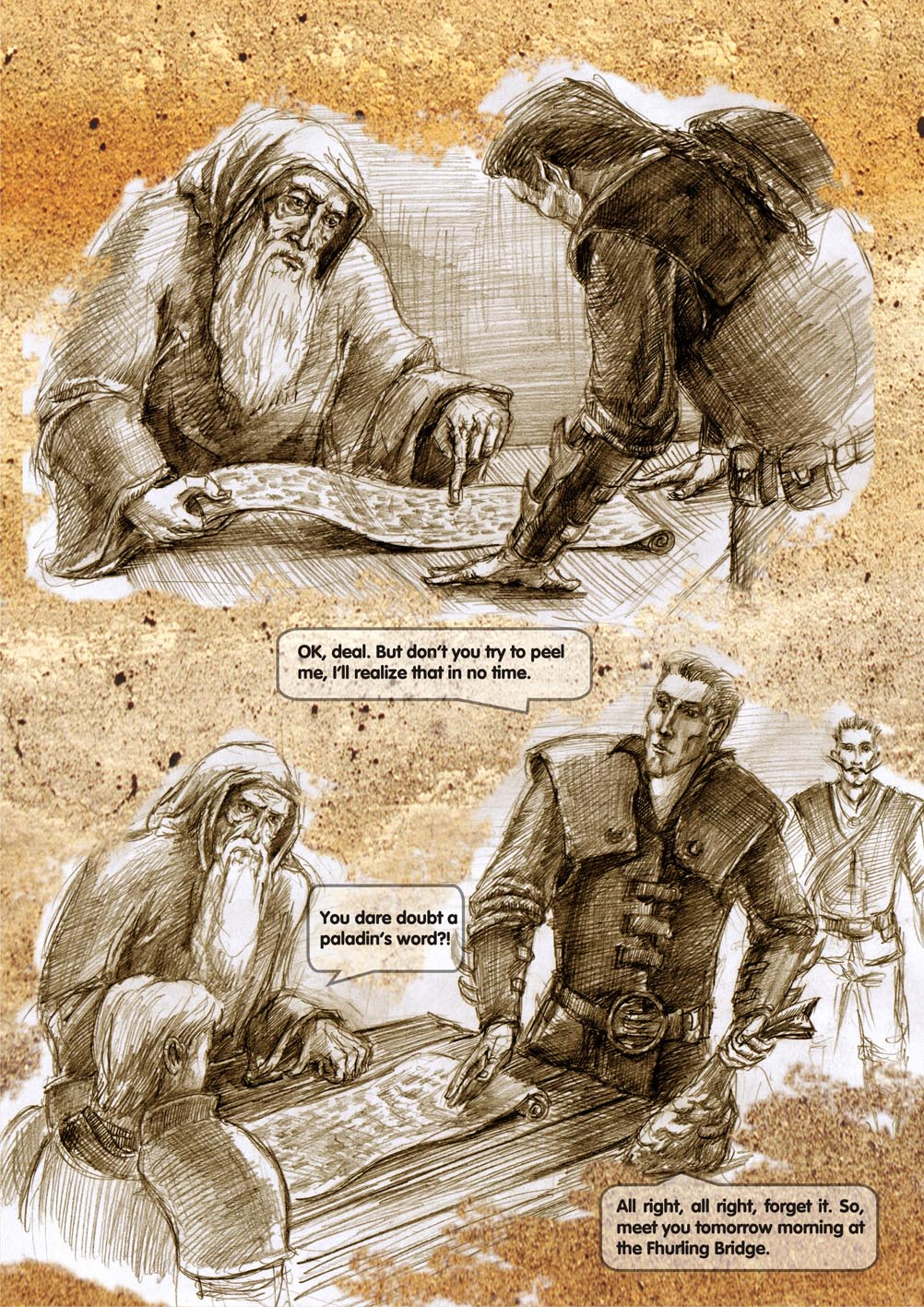Planescape comic - strip