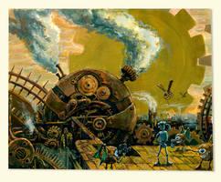 Tin Woodman at Mechanus by Deusuum