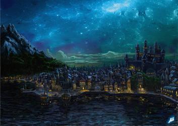 Waterdeep Nights by Deusuum