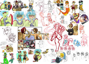 [PKMNA] :: Artdump from May - Aug.