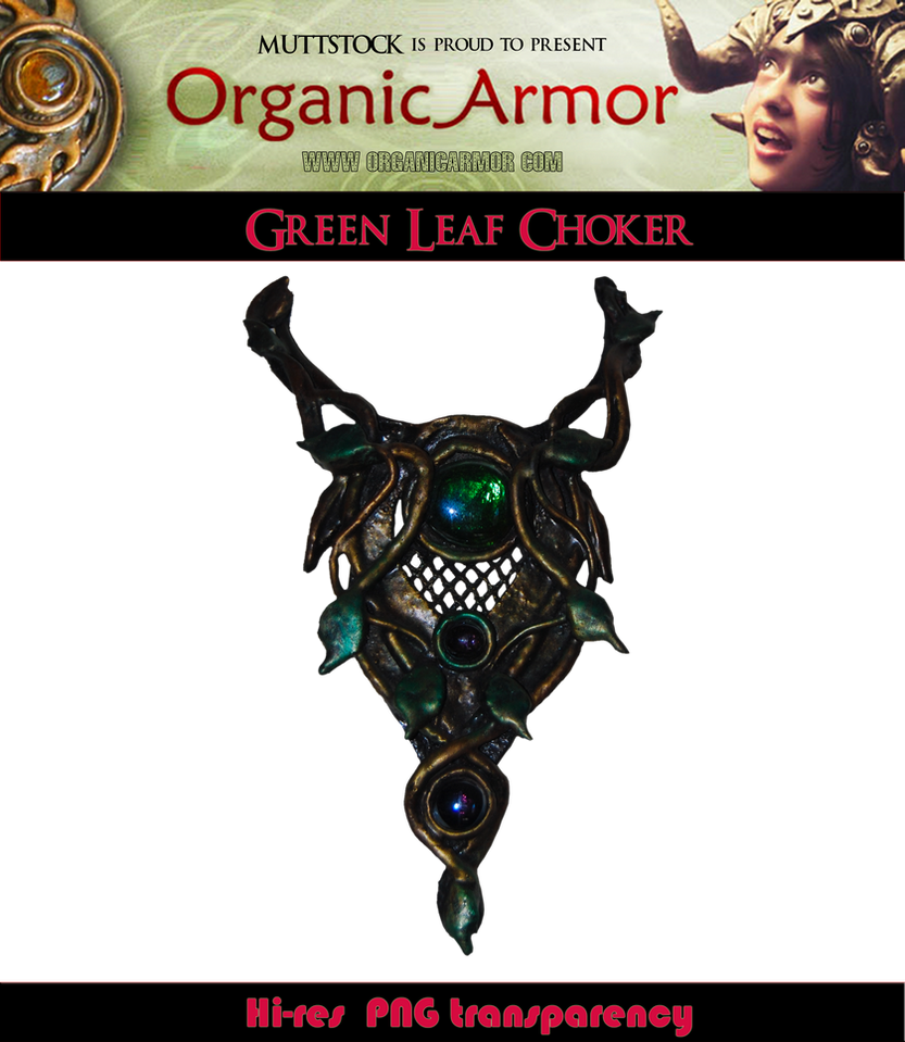 OA - Green Leaf Choker by Muttstock