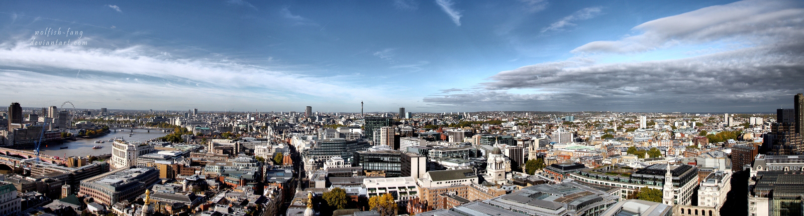 Panorama of London by wolfish-fang