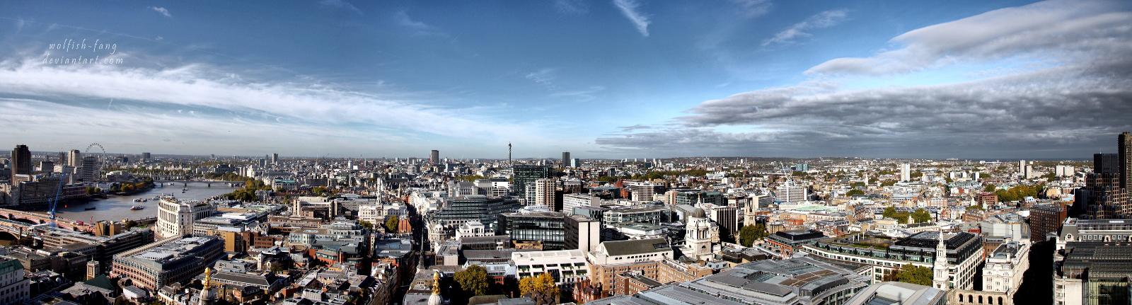 Panorama of London by wolfish-fang