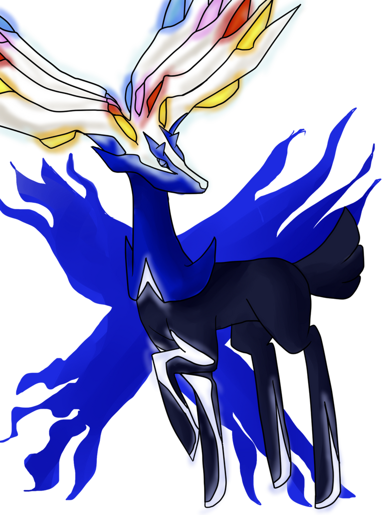 Xerneas by Sparrow-Kaizu