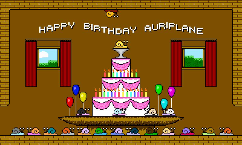 Snailiad: Auriplane's Birthday by n00bdude22