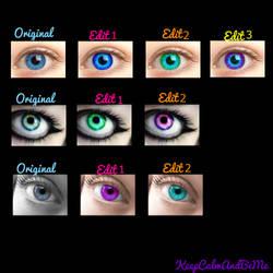 Eye recolouring