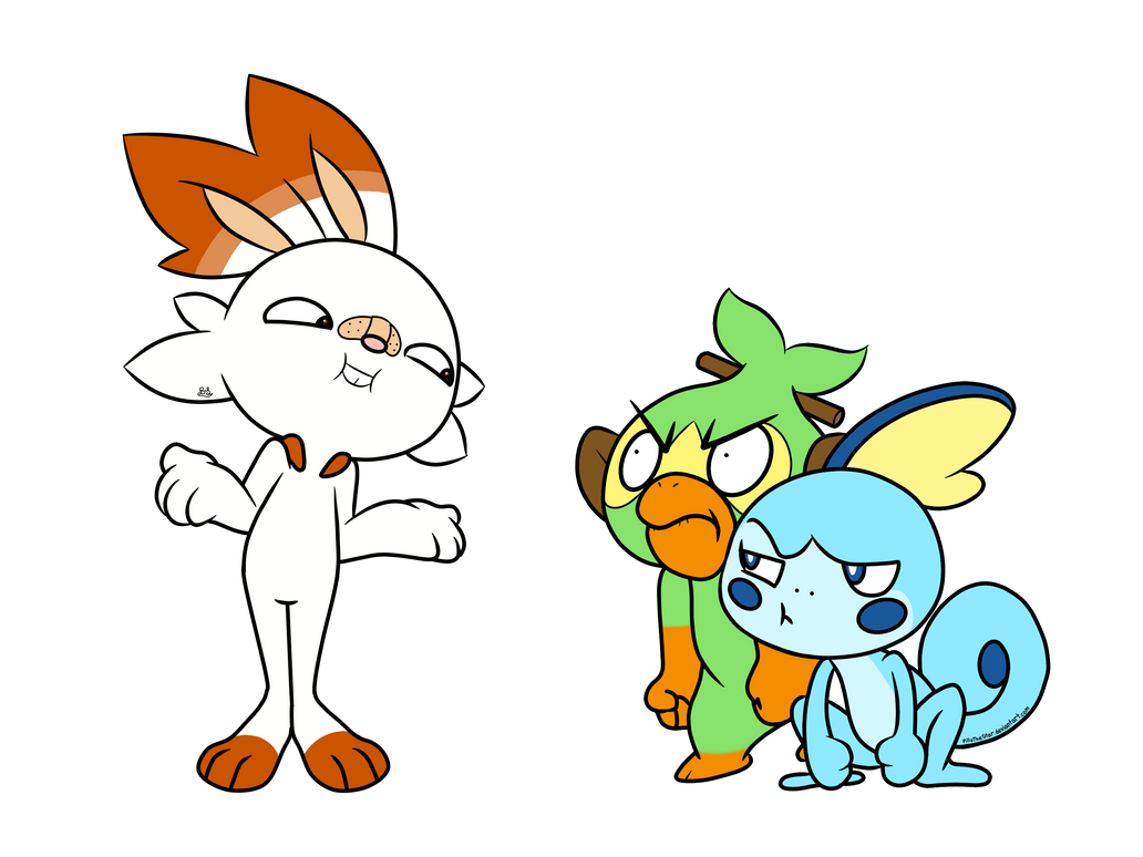Pokemon Sword And Shield Starters By Pillothestar On Deviantart