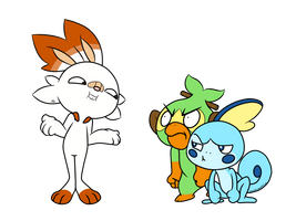 Pokemon Sword and Shield starters by PilloTheStar