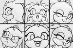 Funny Bunny Doodles by PilloTheStar