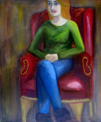 Seated Portrait by ShaliMahon