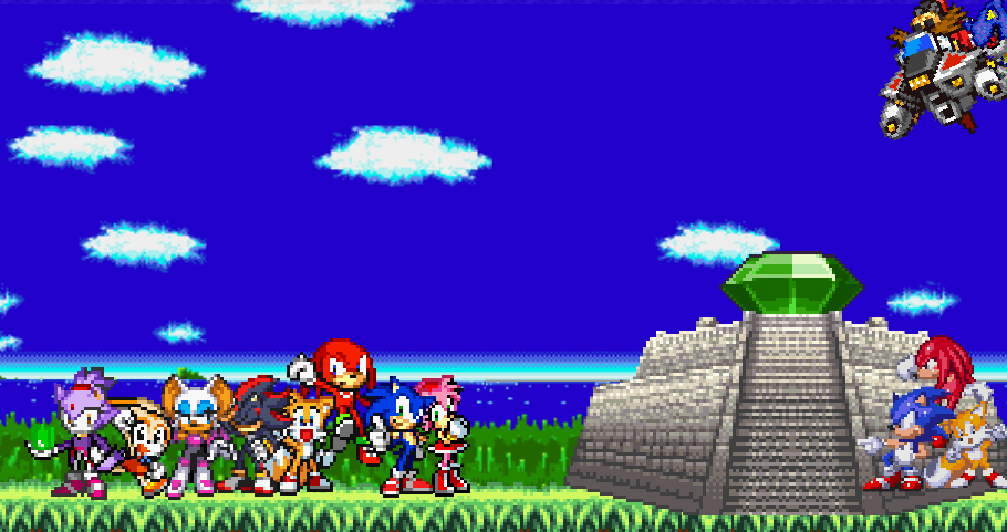 Sonic Scene Creator 5 - Sonic and Friends by SlashTheHedghog