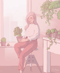 Plant lover by Acisey