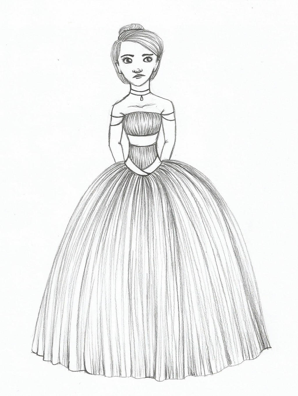 Dress Sketch By Kd Dragon On Deviantart