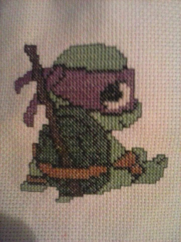 Chibi Ninja Turtle Donny by RebelAngelRin