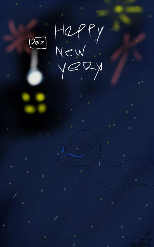 Happy new year Everyone by Geekycreeper2002