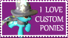 Custom Ponies Stamp by SoulveiWinterfall