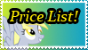 Derpy's Price List by SoulveiWinterfall