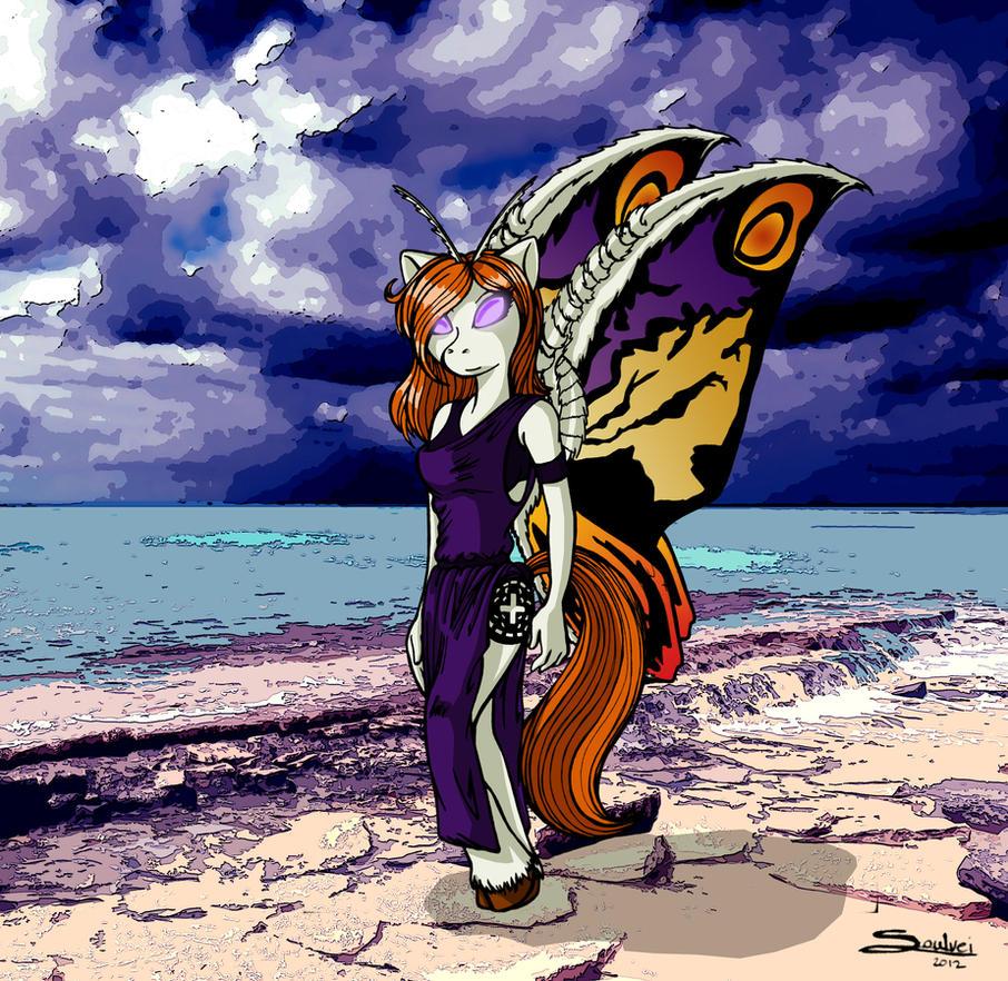 Mothra Pony by SoulveiWinterfall