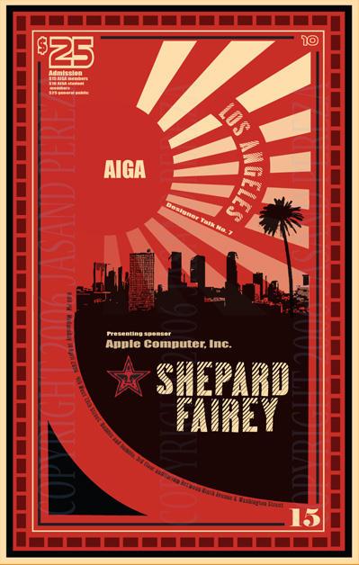 Shepard Fairey AIGA Poster by Viper93000